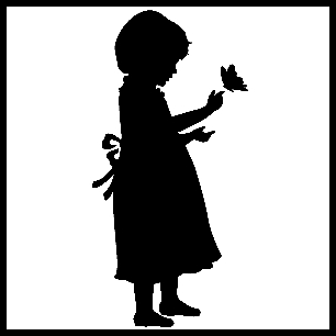 13-SILH11-girl-with-butterfly-3 (306x306, 18Kb)