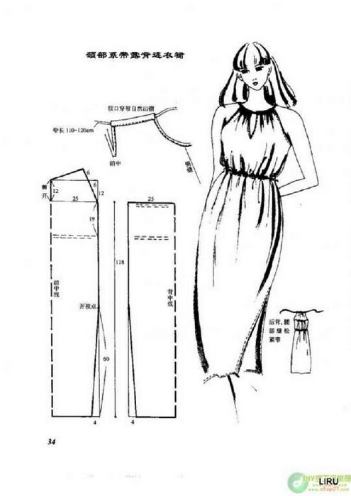 Выкройка халата для полных женщин - Выкройка