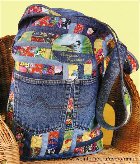 3d001fdd84b2 Джинсовая сумка и цветные лоскутики, сумка для лета. Обсуждение на ...
