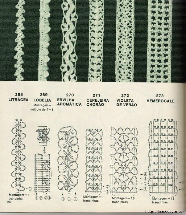 вязания крючком бретели схемы