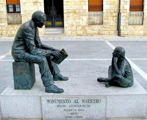Памятник Учителю в Испании.