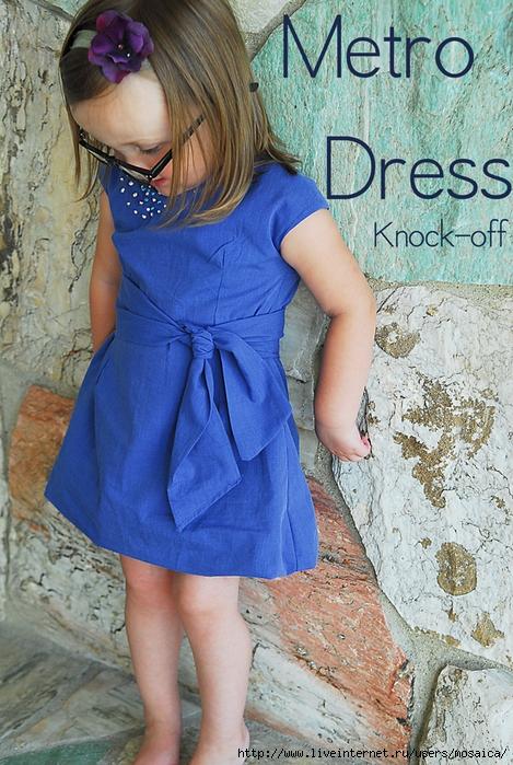 Из мужской рубашки сшить платье для девочки 191