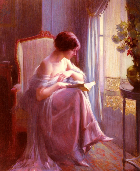 Ах эта женщина в окне в платье розового цвета
