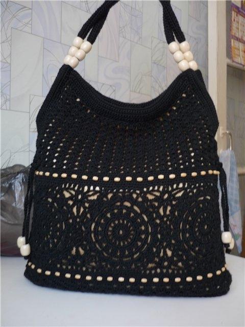754f33ba2e55 черная вязаная сумка (480x640, 145Kb) белая сумка крючком ...