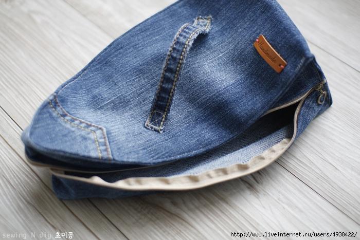 Чехол из джинсов