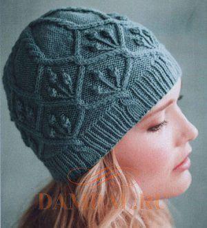 вязаные шапки спицами с описанием самое интересное в блогах