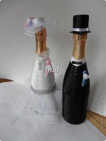 Свадебные бутылки шампанского своими руками - Мастер класс. Пошаговая инструкция - Свадьба своими руками
