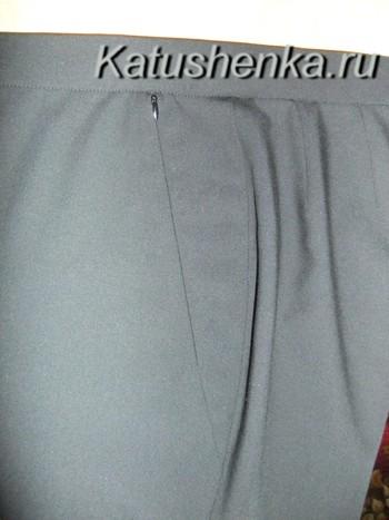 Обработка карманов брюк на молнии.МК.
