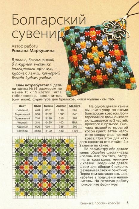 Болгарский крестик вышивка схемы