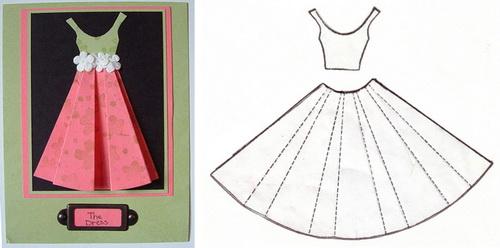 Смс, шаблон платья на открытку на 8 марта
