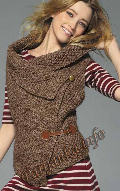 ажурное вязание жилетки