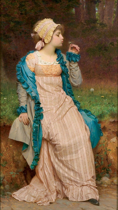 He Loves Me, He Loves Me Not, by Charles Edward Perugini (395x700, 242Kb)
