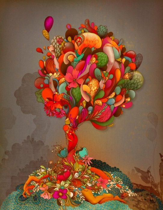 Красочные фэшн иллюстрации Linn Olofsdotter 3 (542x700, 419Kb)