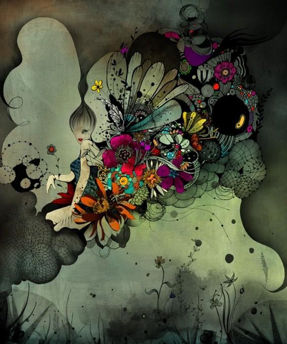 Красочные фэшн иллюстрации Linn Olofsdotter 14 (583x700, 124Kb)