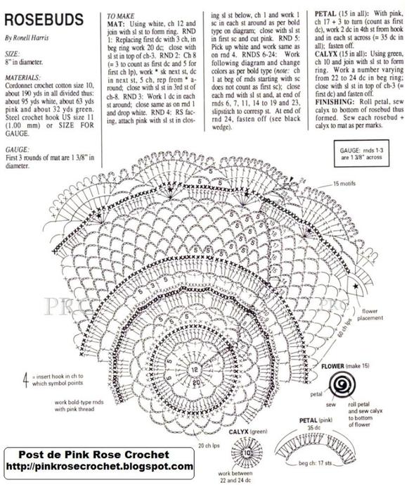 вязаные салфетки крючком со схемами