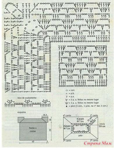 схемы детских ажурных платьев крючком