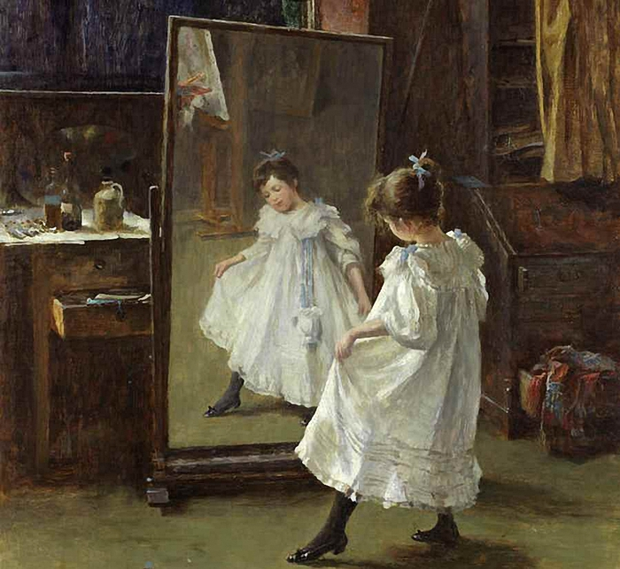 Charles Martin Hardie (1858-1916).The studio mirror (700x643, 317Kb)