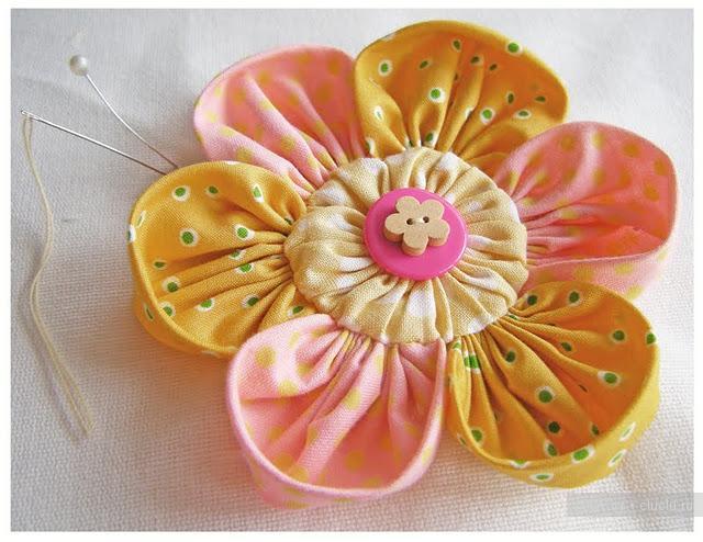 "Цветок из ткани "" Handmade 1"