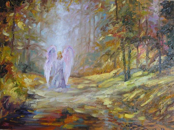 Осенний ангел картинки живопись