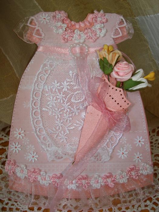 Картинки, открытка в виде платья для девочки