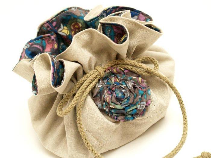 Как сшить сумку-мешочек для мелочей / KNITLY.com - блог о рукоделии