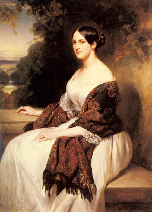Портрет мадам Аккерман, жена главного министра финансов короля Луи-Филиппа, 1838 (504x700, 54Kb)