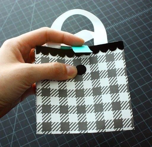 подарочная сумочка из бумаги. Мастер класс