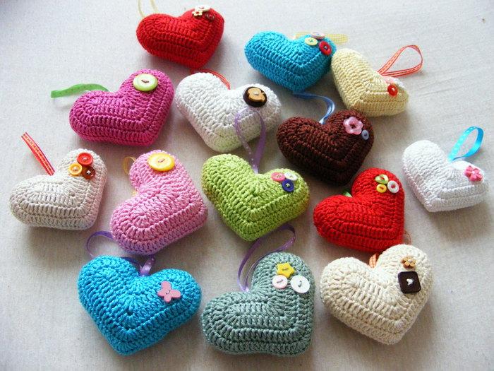Вяжем сердечко-валентинку крючком
