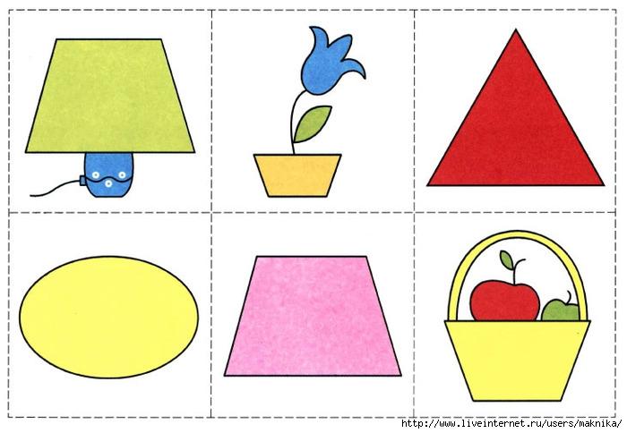 Предметы трапеция формы картинки для детей