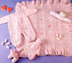 ажурное вязание спицами для новорожденного