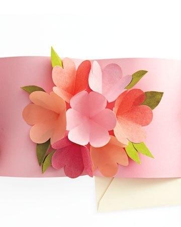 Объемная открытка с цветами внутри Открытки своими руками