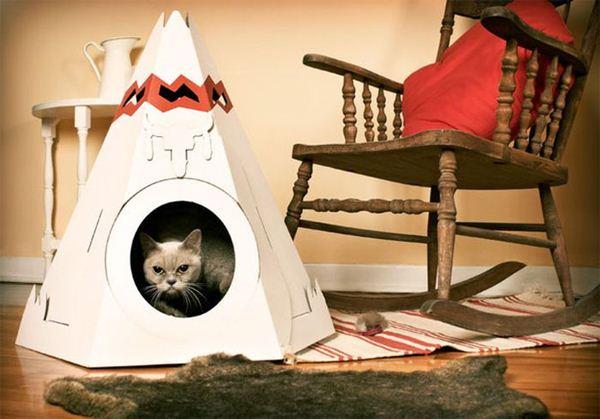 Креативные дома для котов17 (600x419, 42Kb)