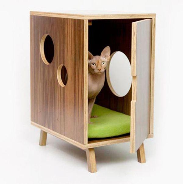 Креативные дома для котов25 (600x603, 31Kb)