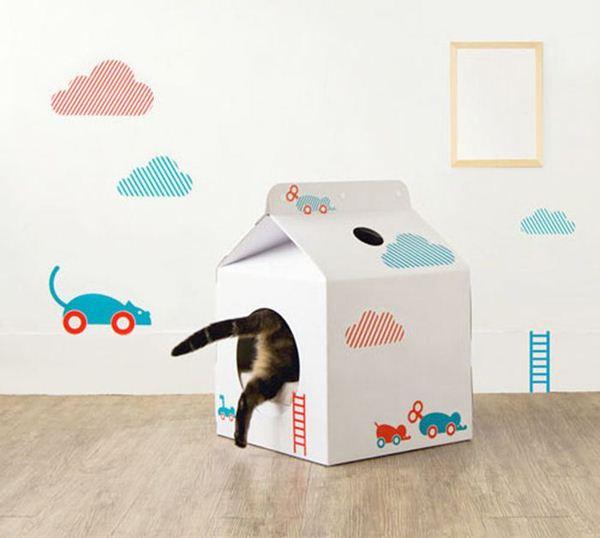 Креативные дома для котов27 (600x538, 30Kb)