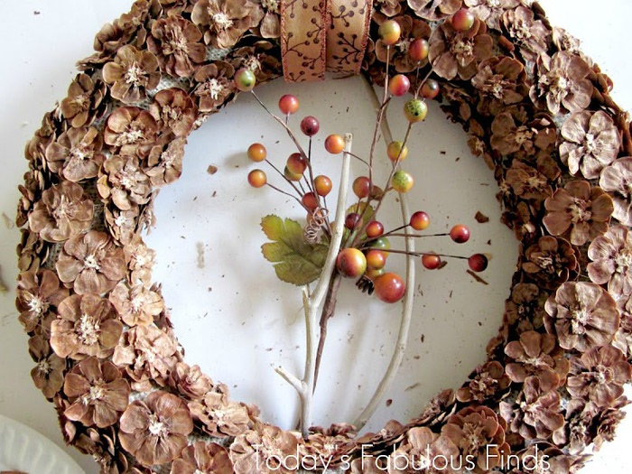 How to make a pine cone wreath_5965r (700x525, 164Kb)