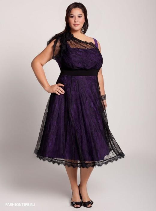 Модели платьев из гипюра для полных.  Платья больших размеров 50-58 для полных ВКонтакте.