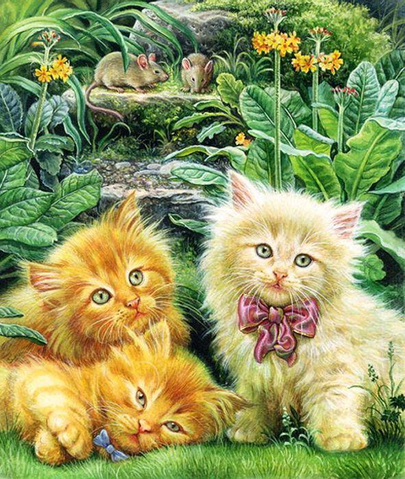 Картинки для декупажа Кошки