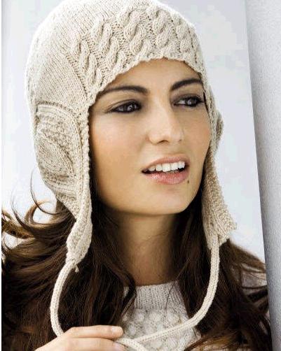 вязание шапок спицами женские с козырьком и ушками журналы.