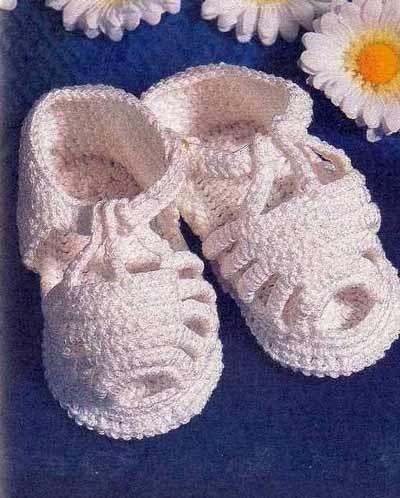вязаные сандалики для малышки обсуждение на Liveinternet