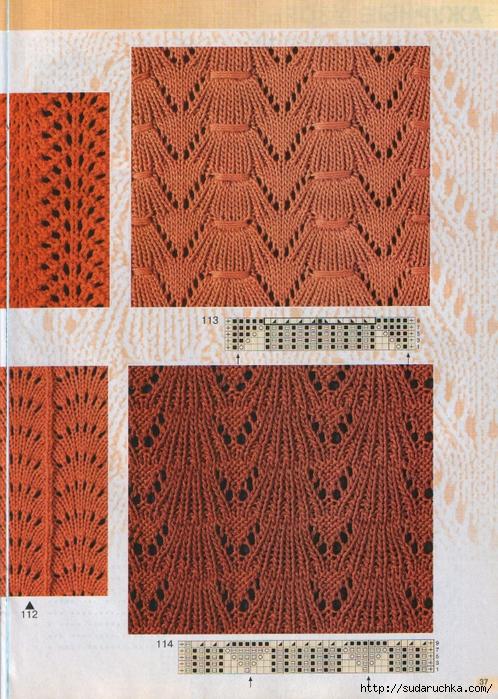 вязание спицами ажурные схемы бабочки