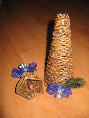 Витое плетение стеблями