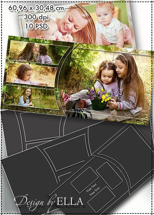 Для, шаблоны фотокниг для фотошопа