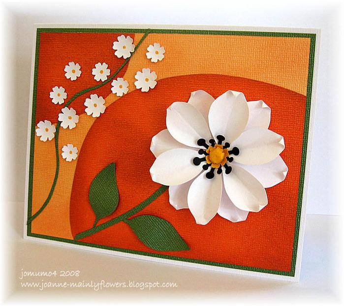 Аппликация открытка с цветами для выполнения с детьми