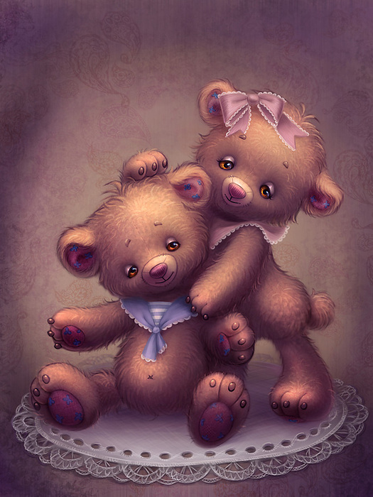 teddy_bears_by_olesyagavr-d3dyr36 (525x700, 141Kb)