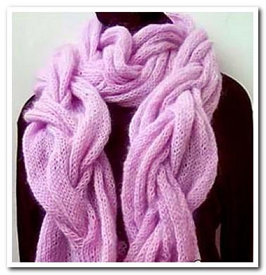 Красивый мохеровый шарф, с широкой косой .+ Описание.  Шарф из мохера...