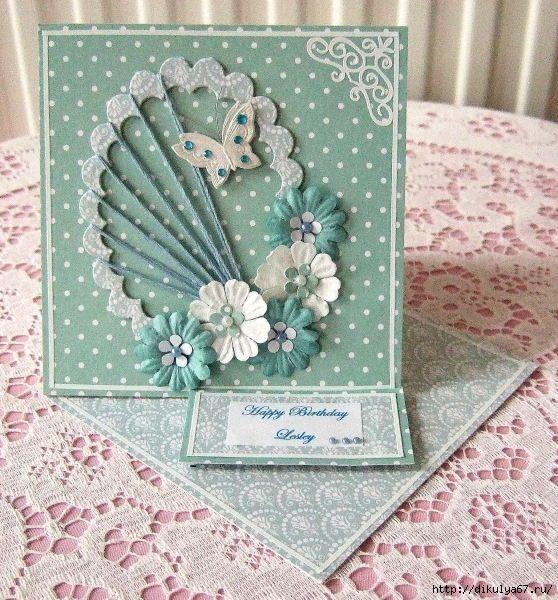 Очаровательная открытка своими руками, рамки дню рождения