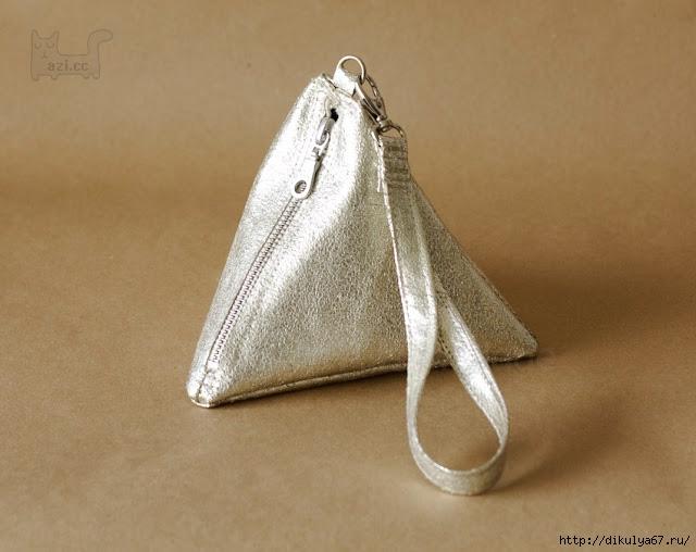 7ac3d6c294ca Как сшить маленькую сумочку-треугольник.. Обсуждение на LiveInternet ...