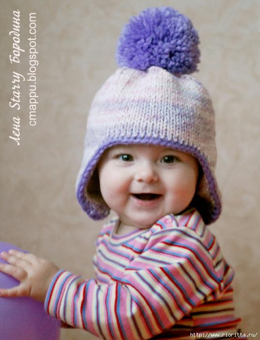 вязаная детская шапка с ушками обсуждение на Liveinternet