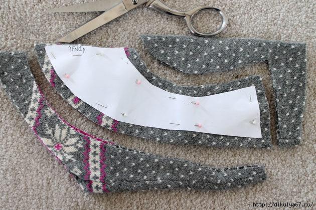 Шьем носки из старого свитера мастер класс сделай сам #5
