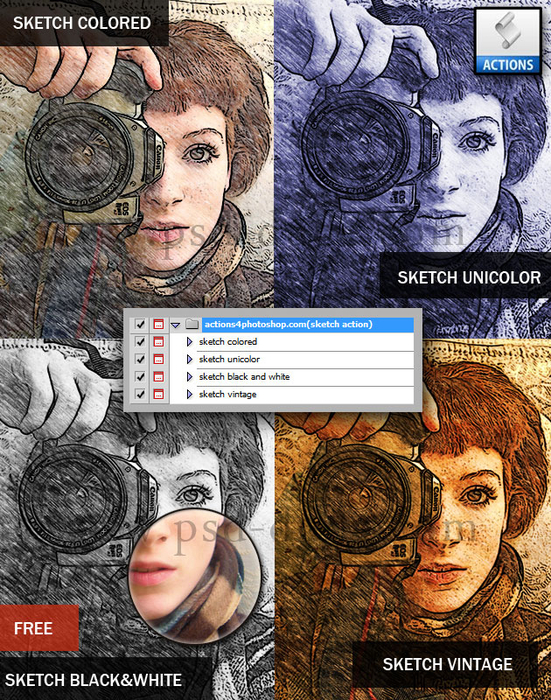 Sketch Photoshop Action (551x700, 594Kb)